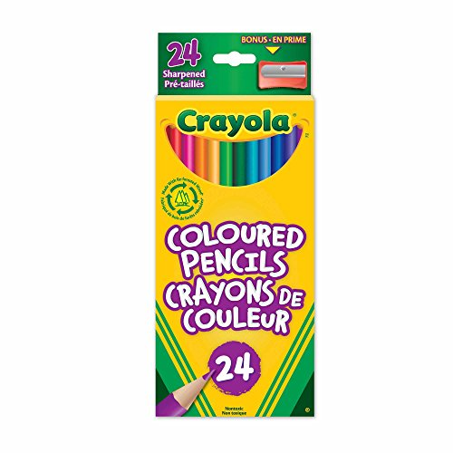 Crayola 24 Coloured Pencils, Adult Colouring Pencil Crayons, Bullet Journaling, School and Craft Supplies, Drawing Gift for Boys and Girls,...