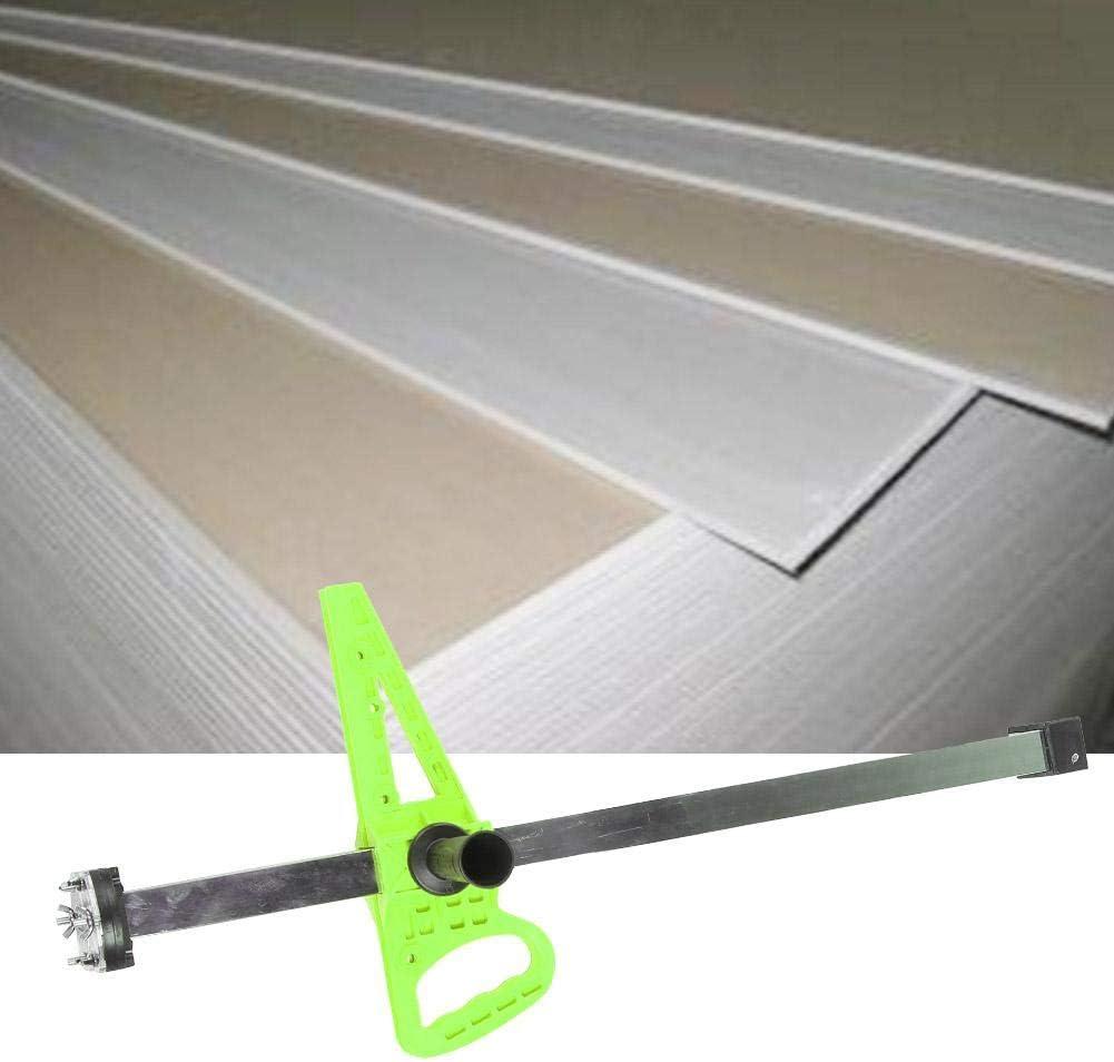 Green Manual Gypsum Board Cutting Artifact Woodworking Hand Push Drywall Cutting Tool with Handle Activity Slider Black Green Orange Blue