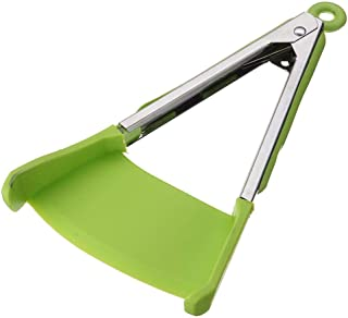 Utensils tools  2 In 1 Clever Kitchen Spatula And Tongs Non-Stick Heat Resistant Stainless Steel Frame Silicone Tongs Kitchen Gadget   By ALILA