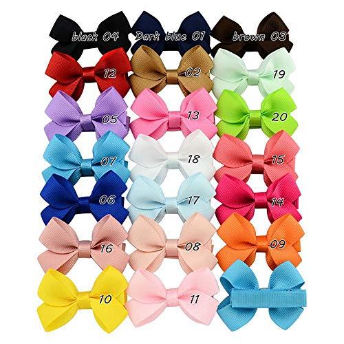 Cheveux nœuds pour filles ruban Boutique Pince à cheveux pour bébé fille ruban Bandeau, Lot de 20