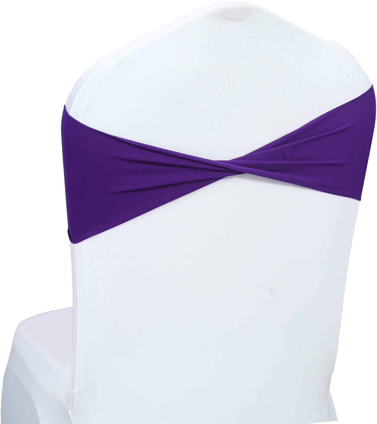 mds Pack of 100 PCS Factory outlet Spandex Wedding Tie Dallas Mall Bow f Sashes Chair Bands