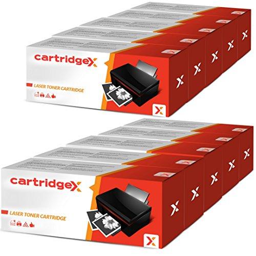 cartridgex 10x Compatible cartucho de tóner de repuesto para KYOCERA TK-1140TK1140Negro Kyocera ECOSYS M2035dn ECOSYS M2535dn FS-1035MFP FS-1135MFP