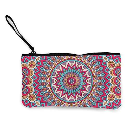 Bearget Vintage-Deko-Elemente, marokkanischer Ottomanen-Motiv, niedliches Leinengeld, Geldbörse mit Reißverschluss, Handschlaufe, Make-up-Stiftmäppchen für Damen und Mädchen