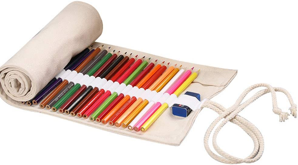 Creative Canvas Roll Brand new Up Pencil Capacity Pen All stores are sold Po Large Case