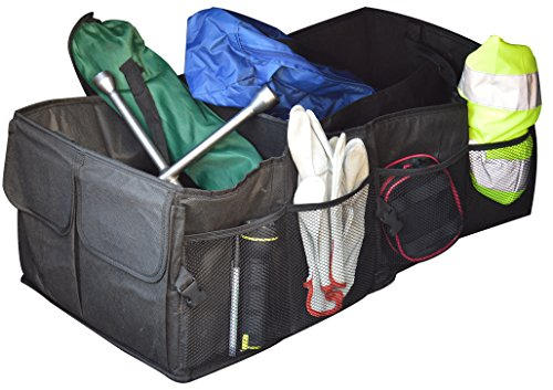 Jocca - Organizador para maletero de coche, color negro