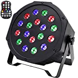 U`King Wireless LED Uplights 18 LED Stage Lighting Par Can Lights Battery Powered 20 Hours Up Light by Sound Activated and DMX Control Uplighting for Wedding DJ Disco Events Church Live Show