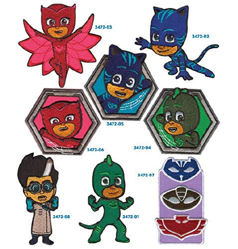 8 Patches pj mask Embroidery Ironing - REF.3472-U8