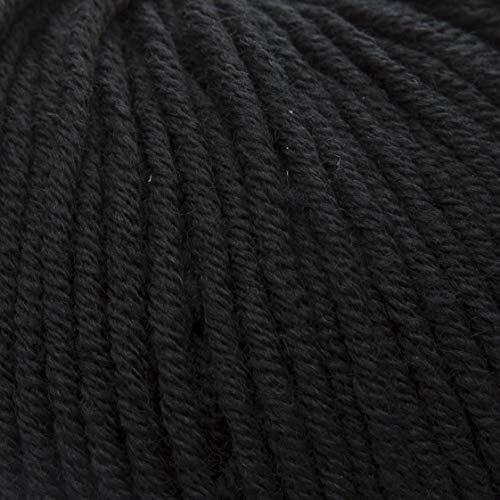 ggh Samson | Merino Wolle (muelsing Free) | Lauflänge ca. 85m auf 50g | Wolle zum Stricken oder Häkeln | Farbe 017 - Schwarz