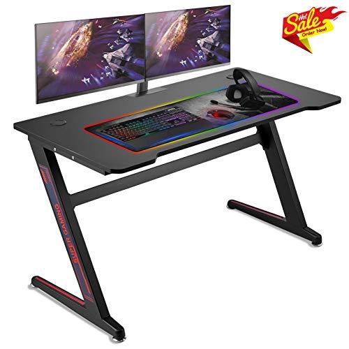 Huracan Gaming Tisch Gamer Schreibtisch Groß XL Computertisch Verbessert Geschwindigkeitt, Vergrößern...