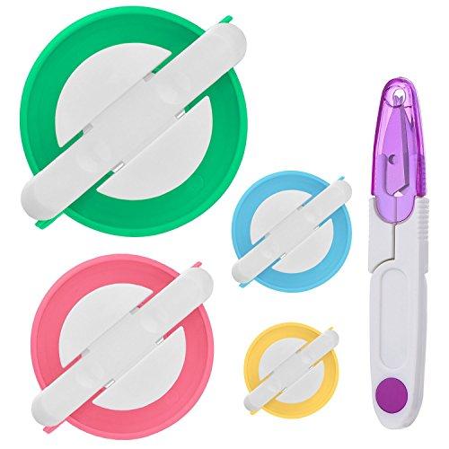 Telaio per realizzare pompon in 4 misure diverse, per fai-da-te, kit di attrezzi con tagliafilo e forbici