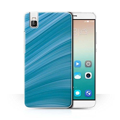 Stuff4® Hülle/Case für Huawei Honor 7i/ShotX/Abstrakte Welle Muster/Teal Mode Kollektion
