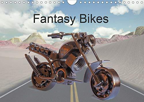 Fantasy Bikes (Wandkalender 2020 DIN A4 quer): Motorräder aus kreativen Fotos und 3D-Modellen (Monatskalender, 14 Seiten )