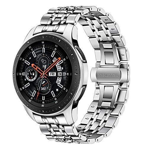 TRUMiRR Compatible con Galaxy Watch 46mm Correa de Reloj de Metal,22mm Correa de Reloj de Metal de Acero Inoxidable Banda de Repuesto para Samsung Galaxy Watch 46mm/Gear S3 Frontier Classic