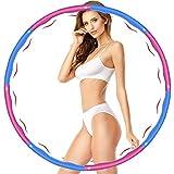 Hula Hoop Fitness,Design Ondulato Gomma Piuma,Staccabile a 8 Sezioni Pneumatico da Palestra per Utilizzato per Dimagrire e Massaggi, Hula Hoop Professionale per Adulti Fitness 1.2 kg (Rosso+Blu)