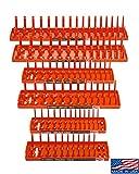 Hansen Global 92002 SAE & Metric, 2-Row Socket Tray Set - 6-Pieces, Orange