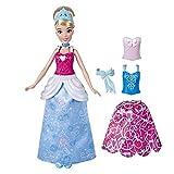 Disney Princess- Muñeca de Moda de Cenicienta Princesa con Trajes a presión, Mezcla y...