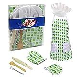 Barlingrock 7pcs Kinder Kochen und Backen Set Chef Set für Kinder Küche Kostüm Pretend...