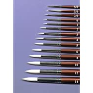 Robert Simmons Short-Handled White Sable Water Color Brushes size 8/0 round by Robert Simmons