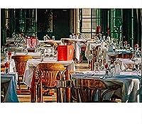 クロスステッチキットレストラン11CT刻印針先プリントパターンキット家の装飾のためのクロスステッチ縫製刺繍