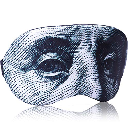 Man's Sleeping Mask Gift Dollar for Child's Man Woman - Funny Sleeping mask 100% Soft Cotton - Comfortable Eye Sleeping Mask Night Cover Blindfold for Travel Dollar Mask(USD Green, Gift Pack)