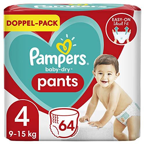 Pampers Baby-Dry Höschenwindeln 4, 64Windeln, 9kg-15kg