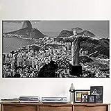 WXDQ Brasilien Rio de Janeiro Ansicht Leinwand Malerei