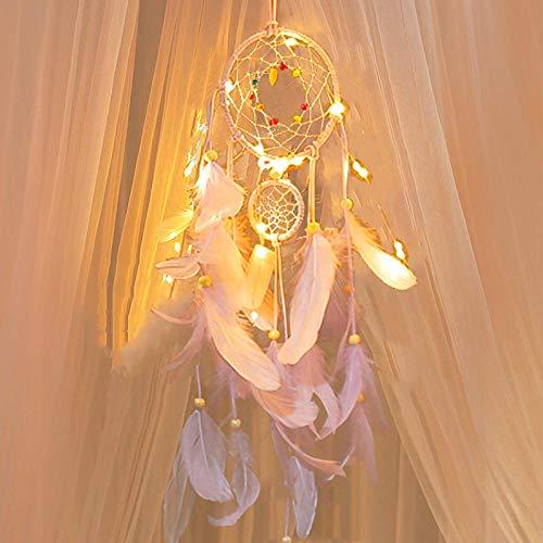 Tangyuan windspel Japanse geschenken parelmoer meisje hart dream catcher hanger windbel bos veer parel bumpers boutique catcher net slaapkamer hanger charme Pentagram rose