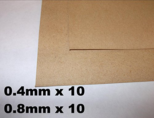Innovo Mix DE 20 Juntas de Papel DE 0,4 mm, 0,8 mm, 10 DE Cada Tamaño, Grueso, Sellado de Aceite, Resistente al Agua, Hoja 250 mm x 250 mm, Bombas de Agua Marina automotriz