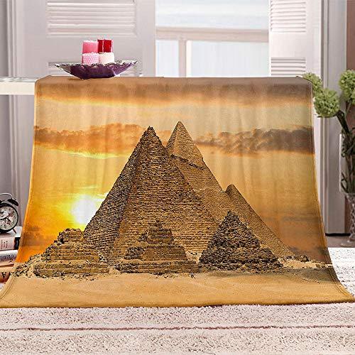 LHUTY Manta de Franela Pirámides egipcias 70x100 cm Viaje Alfombra,Franela Sherpa,Manta De...