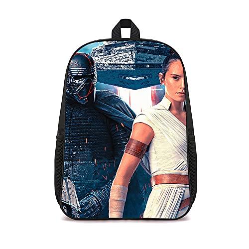 DUANGONGZI Borsa da scuola stampata in 3D Poster del film di Star Wars Viaggi Zaino casual alla moda Zaini sportivi e all'aperto Zaino leggero unisex Borsa da scuola 16 pollici
