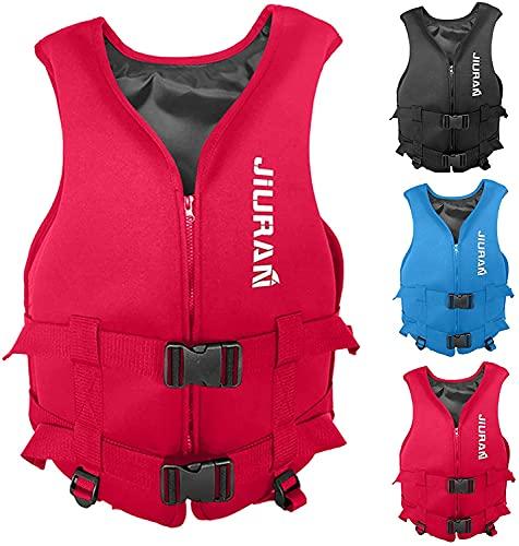 Chaleco salvavidas, chaleco salvavidas flotante, chaleco salvavidas de verano, chaleco salvavidas para niños y adultos, chaleco salvavidas flotante, chaleco salvavidas para pesca, surf,(rojo, XXL)