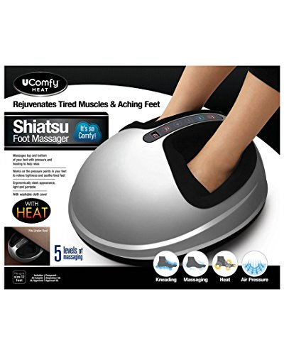 uComfy Shiatsu Foot Massager 2.0, Silver