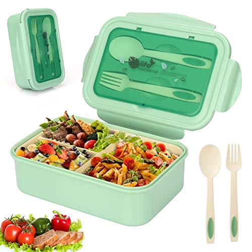 Sinwind Fambrera Infantil, Lunch Box, Bento Box, Fiambrera con 3 Compa