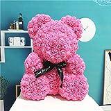 LTXDJ 10inch Rose Bear, único Oso de Peluche Hecho a Mano Aniversario, día de San Valentín,...