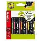 Marcador fluorescente GREEN BOSS - Estuche con 4 colores