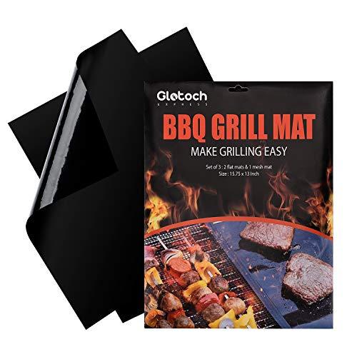 Grill Mat - Set of 3 Non Stick BBQ Grill Mats...