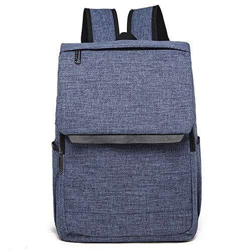 Laptop Bag, Universal Multi-Function Canvas Laptop Computer Shoulders Bag Leisurely Backpack Students Bag, Size: 42x30x12cm, Portable Notebook Computer Carrying Case Bag (Color : Blue)