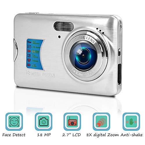 Camara De Fotos Camara Fotos Videocamara Digital de 18 MP 8X Zoom Digital Camara de Fotos Digital Compacta 2.7 Pulgadas de LCD Cámaras Digitale con Función Macro para Youtube