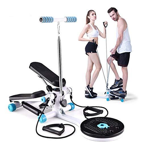XJZHANG Pedaliera ellittica per Bici ellittica per Macchine ellittiche per Bici da Allenamento con Alzata con Monitor Incorporato, Silenzioso Compatto per l'home Office (Blue)