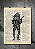 Bob Marley - One Love - Inspirational Quote Art - Vintage Dictionary Print 8x10...