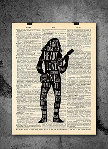 Bob Marley - One Love - Inspirational Quote Art - Vintage Dictionary Print 8x10 inch Home Vintage Art Abstract Prints Wall Art for Home Decor Wall Decorations Ready-to-Frame