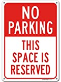 UT-TP No Parking Signo, Reserved Parking Signo, Industrial Grade Aluminum, Easy Mounting