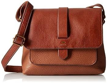 Fossil Women s Kinley Leather Small Crossbody Purse Handbag Brown
