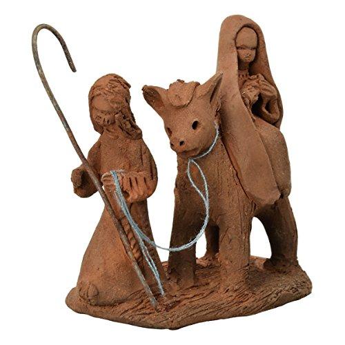 Flucht nach Ägypten, Krippenfiguren aus Ton - Handarbeit aus Chile, 6x7cm