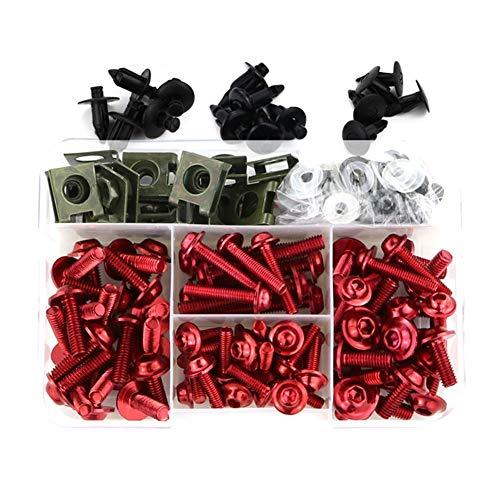 SSGLOVELIN Fit for Aprilia RSV4 Tuono 1000 R Tuono V4 APRC Tuono V4 1100 RSV 1000 R RSVR RS4 125 SL750 Shiver Mana 850 Verkleidung Schrauben Kit Schrauben (Color : Red)