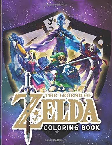Legend Of Zelda Coloring Book: Legend Of Zelda Coloring Books For Adult ! (Colouring Pages For Stress Relief)