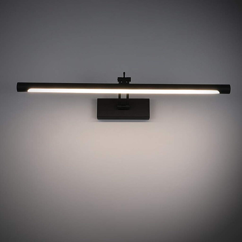 Jizhen LED-Spiegel-Licht, Tragbare Eitelkeits-Lichter Punsch-freies justierbares amerikanisches Wand-Licht-Edelstahl-Bad-Spiegel-Lampen-Wand-Lichter Innenbeleuchtung, positives Wei (gre   62cm)