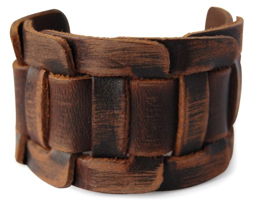 axy LAB1-8 Braun LEDERARMBAND BREIT Serie! ECHT Leder Armband Leather Bracelet! Surferarmband Herren Schmuck