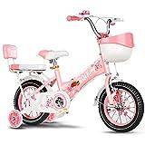 LLF Bicicleta Infantil Niños Bicicleta For Niña 2-12 Años Una Persona Niños, 12 Pulgadas / 14inch / 16Inch / 18Inch De La Bicicleta del Niño con Ruedas De Entrenamiento Y Mano De Frenos