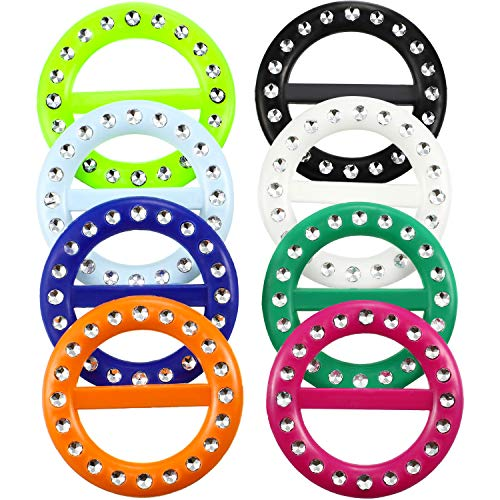 8 Pieces 80s Party Plastic Fashion T Shirt Clips, T Shirt Scarf Clip Ring (Color B, Size B)